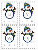 Snowman Letter Matching Clip Cards