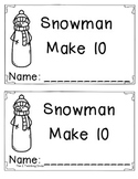 Snowman Making 10 Book! By The 2 Teaching Divas
