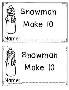 Snowman Making 10 Book! By The 2 Teaching Divas