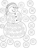 Snowman Math Dice Game