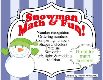 Addition, Number sense, Place Value, Shapes Bundle - Snowm
