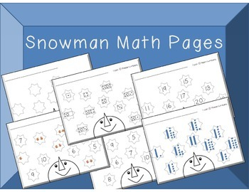 Snowman Math Pages Great for Centers or Assessment