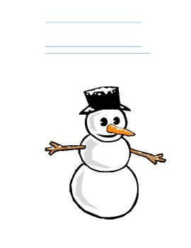Snowman Math- Three Digit Subtraction with Burrowing