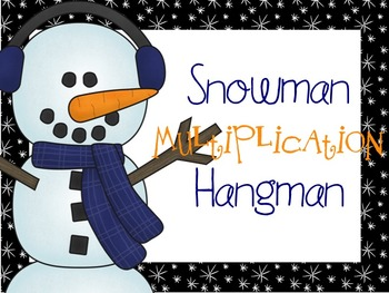 Snowman Multiplication Hangman
