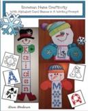 Snowman Name Craftivity with Alphabet Card Games & A Writi