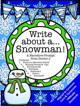 Snowman Narrative Essay Common Core TN Ready Aligned