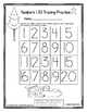 Snowman Numbers 1-20 Writing Practice