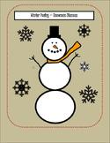 Poetry Snowman ( winter - stanza activity )
