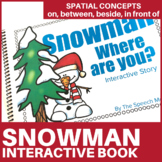 Snowman Preposition Interactive Book