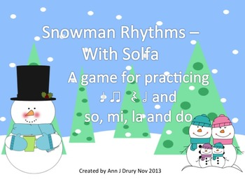 Snowman Rhythms - A Game for Practicing Ta,Ti-Ti, Z, Ta-a