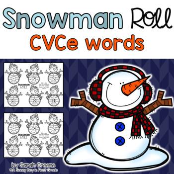 Snowman Roll {CVCe practice!}