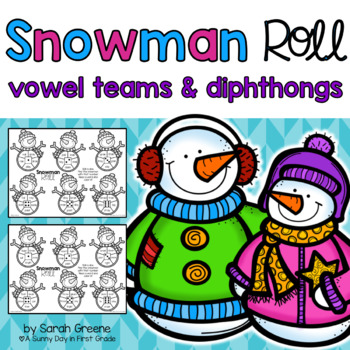 Snowman Roll {vowel teams & diphthongs!}