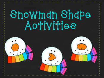 Snowman Shape Activities for Pre-K and Kindergarten