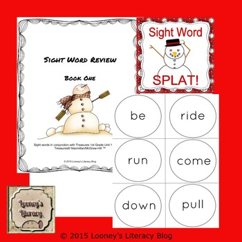 Snowman Sight Word Splat!