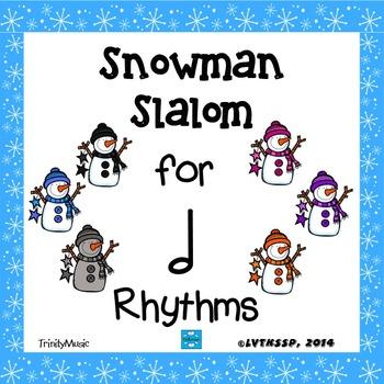 Snowman Slalom Game: Rhythm (Half Note)