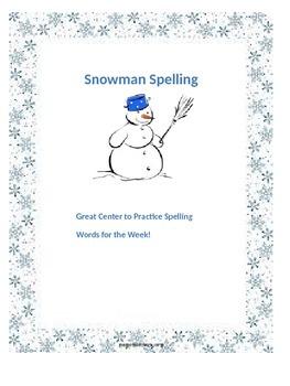 Snowman Spelling