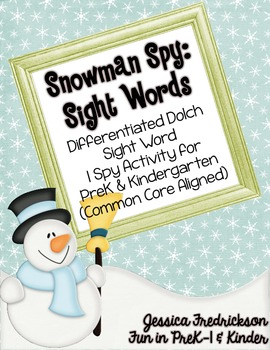 Snowman Spy: Sight Words (CC Aligned)