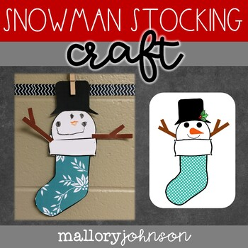 Snowman Stocking Craft