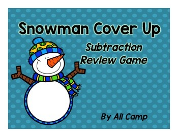 Subtraction Snowman Cover-Up
