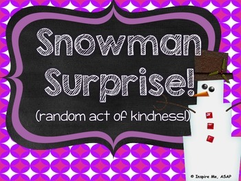 Random Act of Kindness FREEBIE! :)