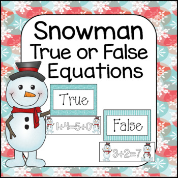 Snowman True/False Equations