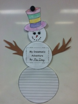 Snowman Writing and Art Project