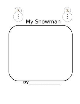 Snowman Writing/Label