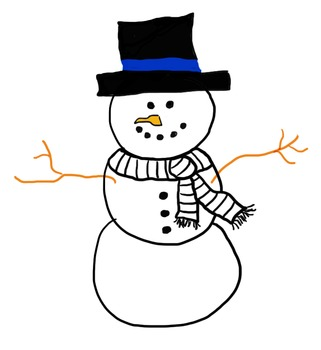 Snowman doodle