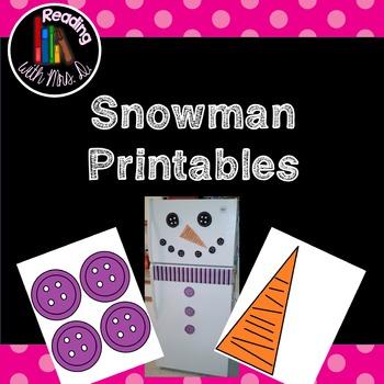 Snowman door printables