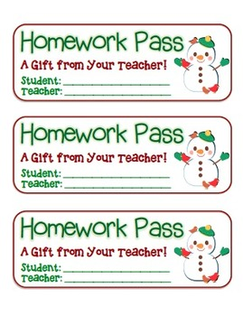 """""""Snowman with Birds"""" Homework Pass –Holiday FUN! (full col"""