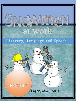 Snowmen At Work - FREEBIE