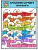 Snowmen Corners and More {P4 Clips Trioriginals Digital Clip Art}