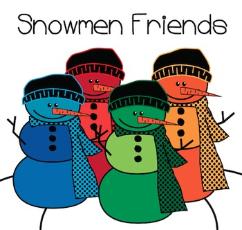 Snowmen Friends Clipart