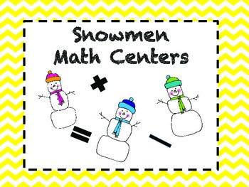 Snowmen Math Centers