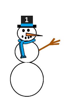 Snowmen Play-dough or Activity Mats for Preschool