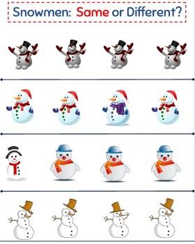 Snowmen:  Same or Different?