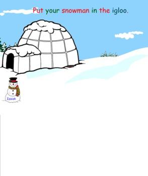 Snowmen Smart Board Attendance