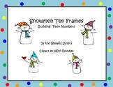 Snowmen Ten Frames Working with Teen Numbers
