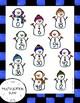 Snowmen Themed Multiplication Facts (0-9) Bump Games
