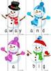 Snowmen Word Puzzles (Pre-primer)
