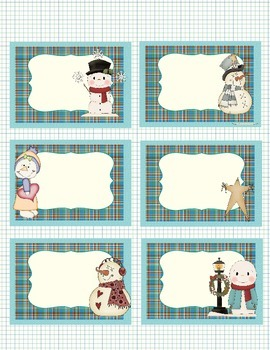 Labels- Snowmen and Winter