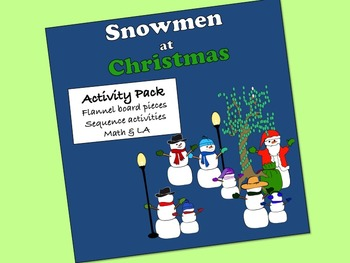 Snowmen at Christmas Activity Pack: sequence activities, f