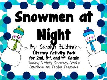 Snowmen at Night by Caralyn Buehner Activity Pack for Grades 2-4