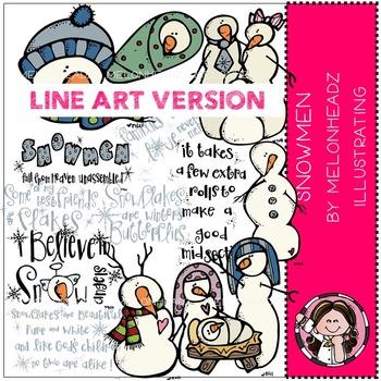 Snowmen by Melonheadz LINE ART