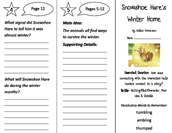 Snowshoe Hare's Winter Home Trifold - ReadyGen 2nd Grade U