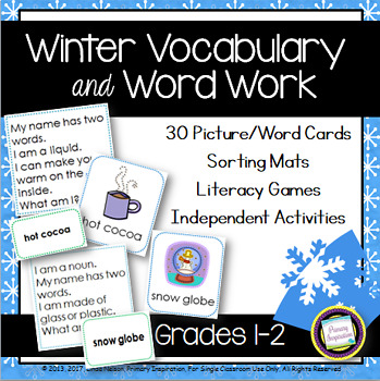 Snowy Days Vocabulary and Word Work