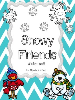 Snowy Friends winter math and literacy centers