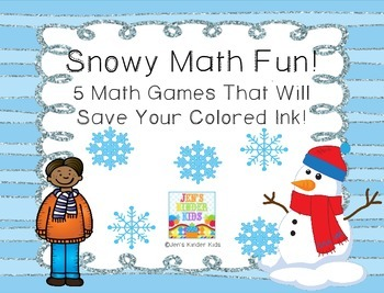 Snowy Fun ~Ink Saving Math Centers!