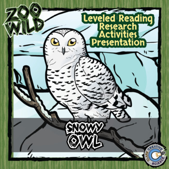 Snowy Owl -- 10 Resources -- Coloring Pages, Reading & Activities