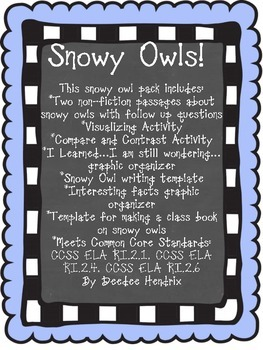Snowy Owl Non-Fiction Pack